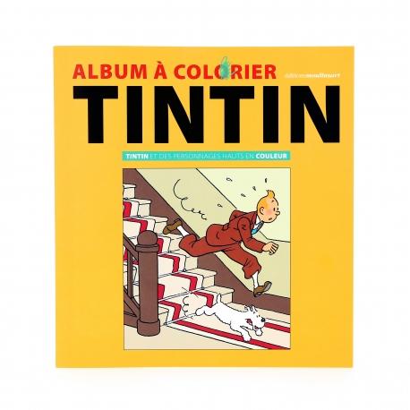 ALBUM DE COLORIR - Tintin et des personnages hauts en couleurs (FR)