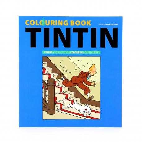 ALBUM DE COLORIR - Tintin and a cast of colorfull characters (EN)