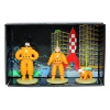 Mini figuras chumbo Tintin, Haddock and Milou cosmonautas