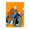 Capa plástica A4 Tintin moto