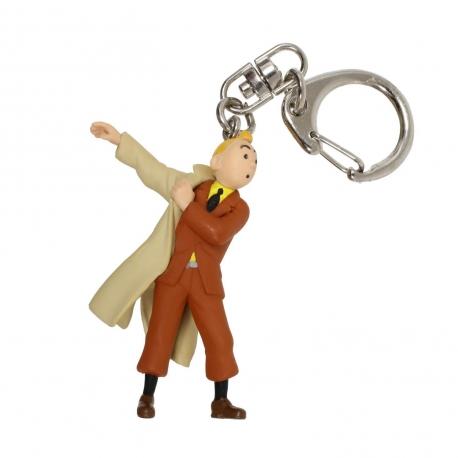 Keyring Tintin trench (5.5cm)