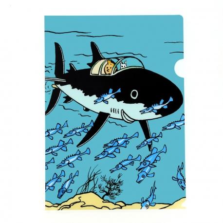 Capa plástica A4 Submarino tubarão