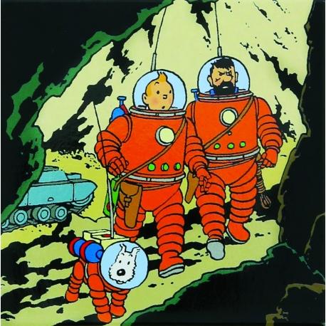 TINTIN HADDOCK & SNOWY MAGNET Moon