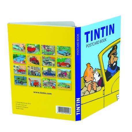 Livrete de 16 postais: Tintin e os Veículos