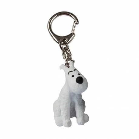 Snowy lying down keyring (2.5cm)