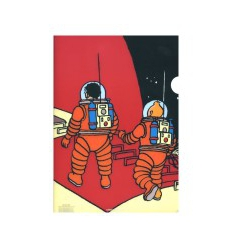 A4 Plastic Cover Tintin Explorers on the Moon