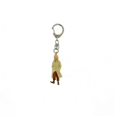 Tintin with coat on walking keyring (5.5cm)