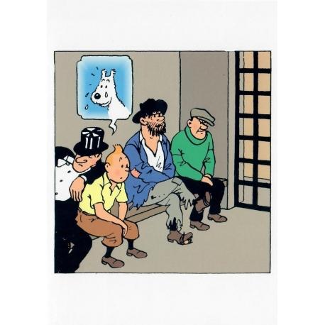 Postal duplo TINTIN Prisão