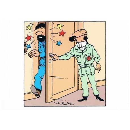 Postal duplo HADDOCK e Girassol porta