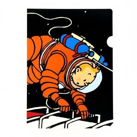 Plastic A4 folder Tintin on the Moon