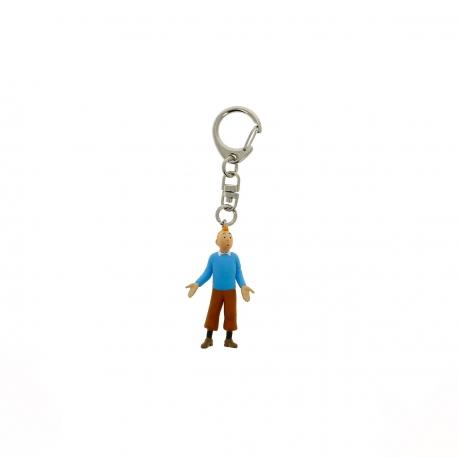 Porta-chaves Tintin pullover azul (5.5cm)