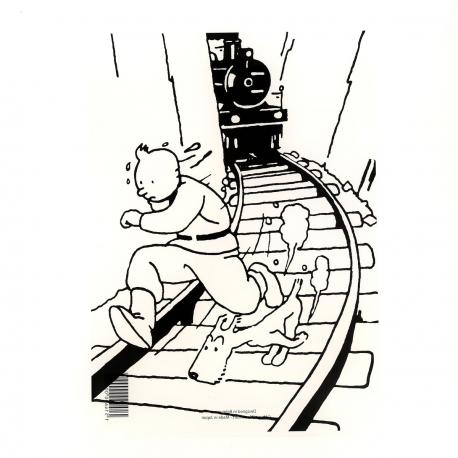 Plastic A4 folder Tintin Soviets