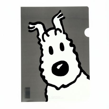 Plastic A4 folder Snowy grey