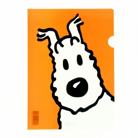Plastic A4 folder Snowy orange