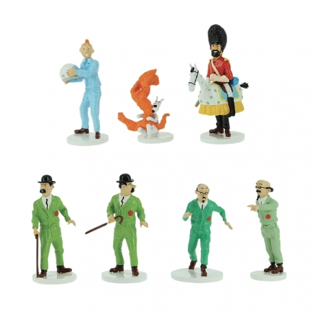 TINTIN MOON SERIES (7 FIGURINES) LEAD