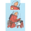 Tintin Space Suit duvet cover