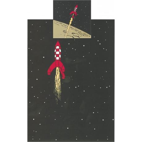 Capa de edredão Tintin Foguetão