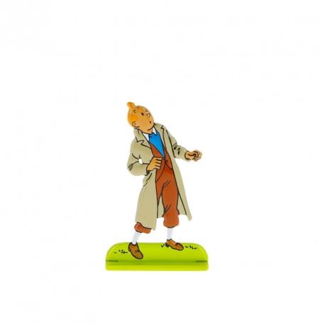 Tintin olha para cima