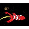 Manta Tintin - polar com Foguetão