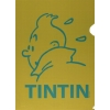 Plastic A4 folder Tintin Green