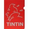 Plastic A4 folder Tintin Red