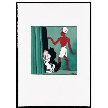 """THE CIGARES OF PHARAOH - ESTAMPE LITHOGRAPHIQUE """"GOUACHE"""""""