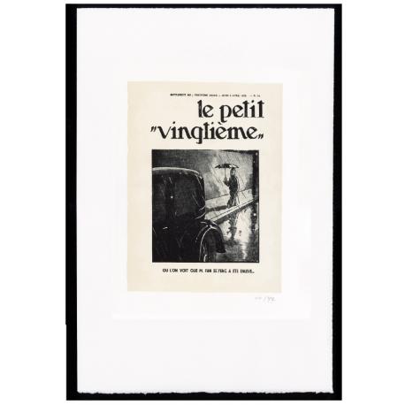 """UNDER THE RAIN - ESTAMPE LITHOGRAPHIQUE """"PETIT VINGTIÈME"""""""