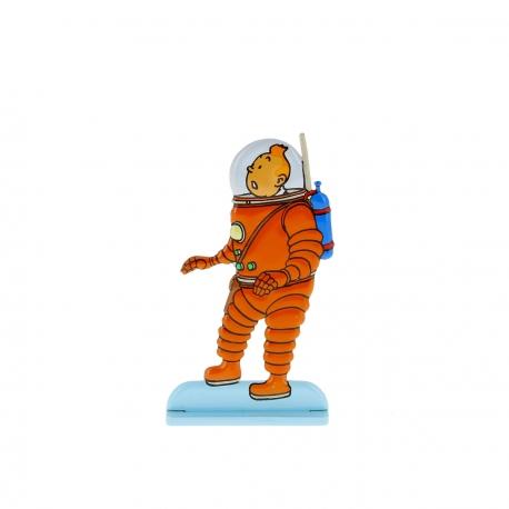 9-Tintin explorando a Lua