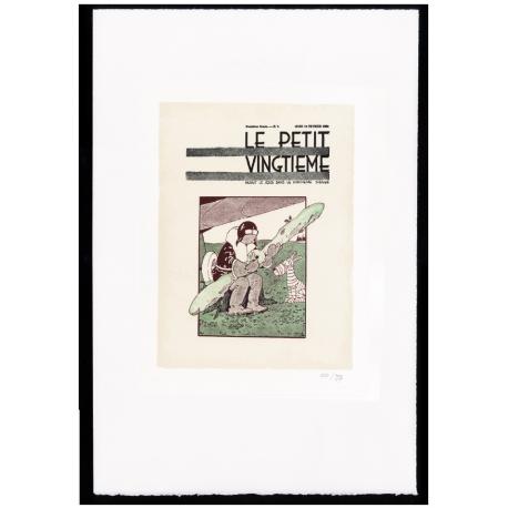"""SOVIET - ESTAMPE LITHOGRAPHIQUE """"PETIT VINGTIÈME"""""""