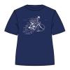 T-SHIRT TINTIN & SNOWY - BIKE LOTUS blue