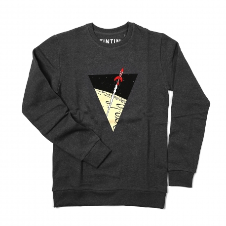 Sweatshirt TINTIN Rocket anthracite