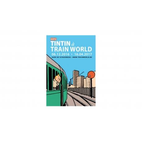POSTCARD EXPO TINTIN À TRAIN WORLD
