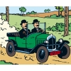 """La Citroën Torpedo des Dupondt - """"Tintin au pays de l'or noir"""" (1950)"""