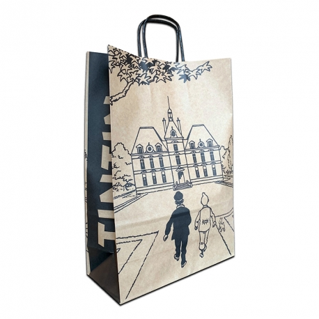 Saco papel reciclado Tintin: Castelo de Moulinsart 36x25x11cm
