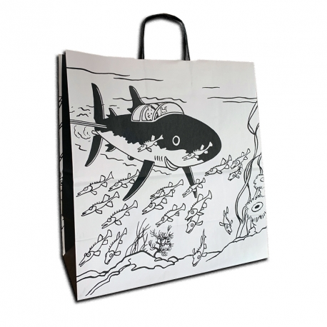 Saco papel reciclado Tintin Tubarão