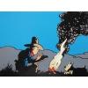 Postcard Tintin Cowboy
