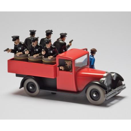 """Le camion de police - """"Tintin en Amérique"""" (1945)"""