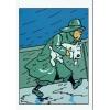 Tintin postcard rain