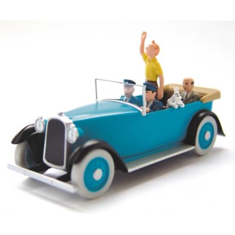 """La voiture d'apparat - """"Tintin en Amérique"""" (1945)"""