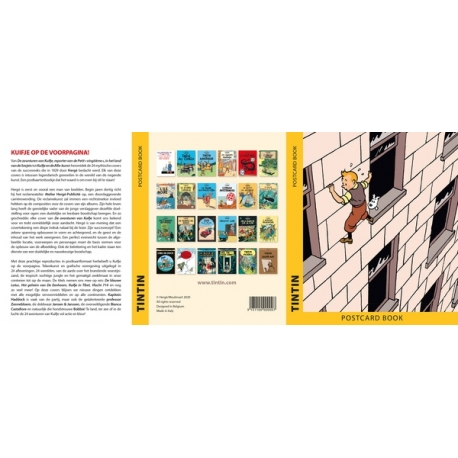 24 postcards booklet: Tintin Book Covers