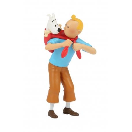 Tintin leva Milou (8 cm)