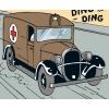 """L'ambulance - """"Tintin en Amérique"""" (1945)"""
