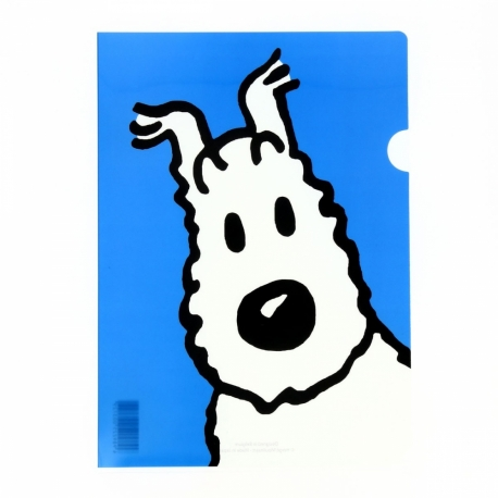 Plastic A4 folder Snowy bue