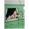 Capa plástica A4 Tintin Congo - comboio