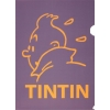Plastic A4 folder Tintin Purple