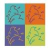 Autocolante Les Aventures de Tintin Profil 11,5x11,5cm