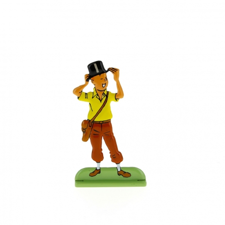 Tintin in top hat