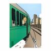 Capa plástica A4 Tintin na America