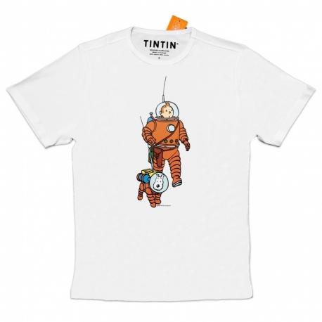 T-shirt Tintin & Milou cosmonaute