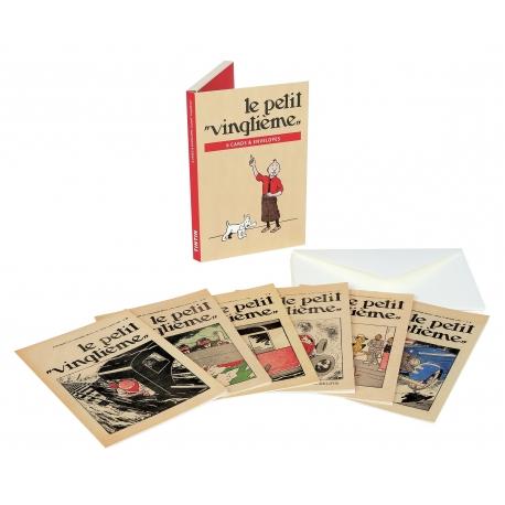 LIvrete de 6 postais & 6 envelopes Petit XXEME